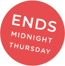 Ends midnight thursday